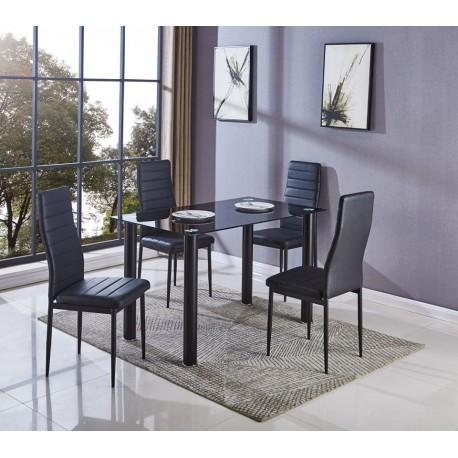 Mesa comedor cristal 4 sillas