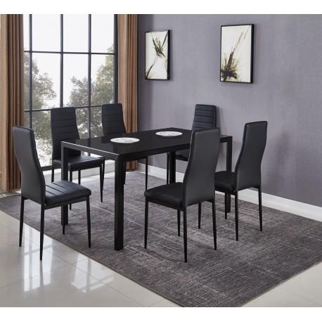 Mesa Comedor con 6 Sillas (DT-20-6)