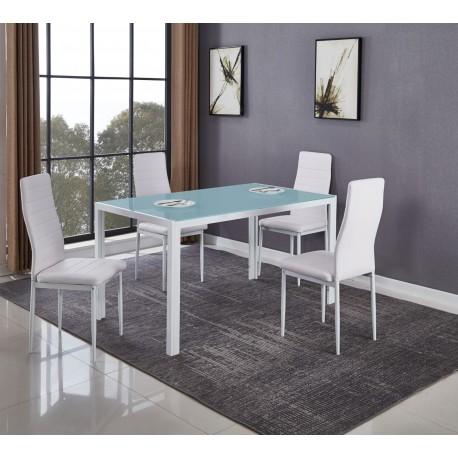 Mesa Comedor con 4 Sillas (DT-20-4)